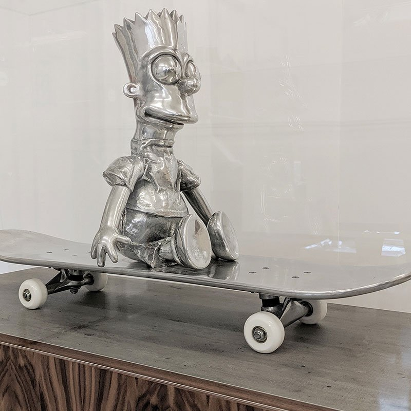Clive Barker Bart on his Skateboard II featured
