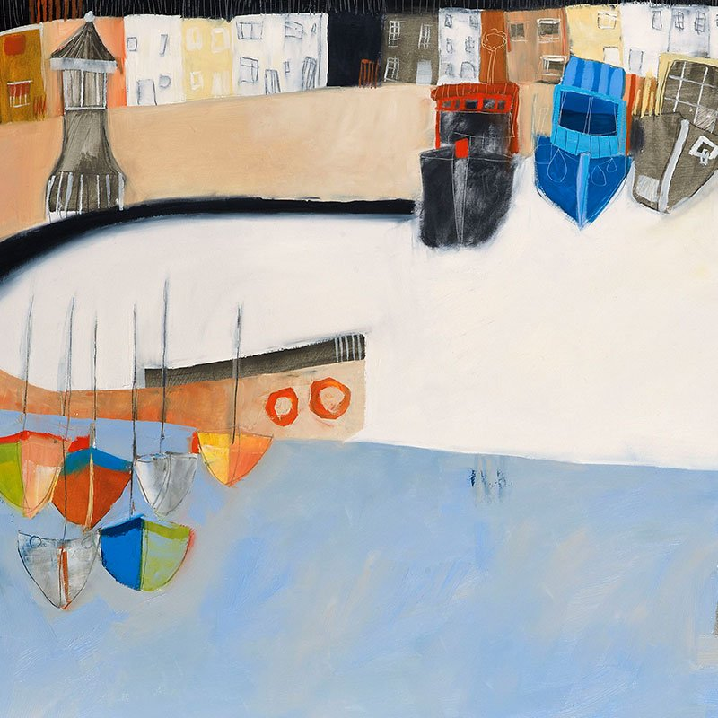 Kathryn Matthews – boats at shoreham lighthouse featured