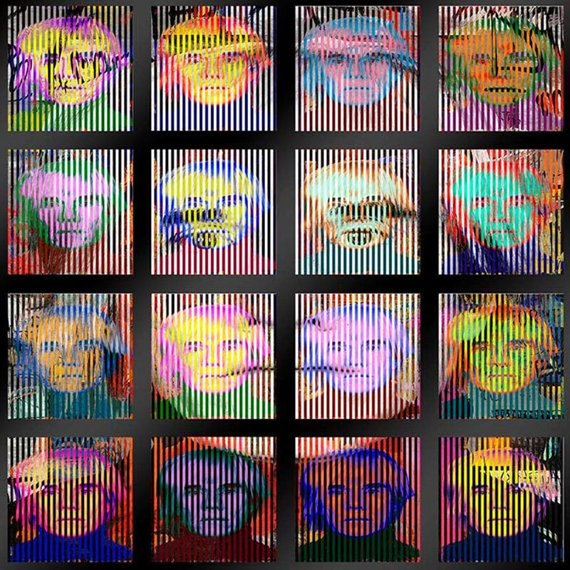 Patrick Rubinstein Warhol The Artist Andy Warhol 16 faces featured
