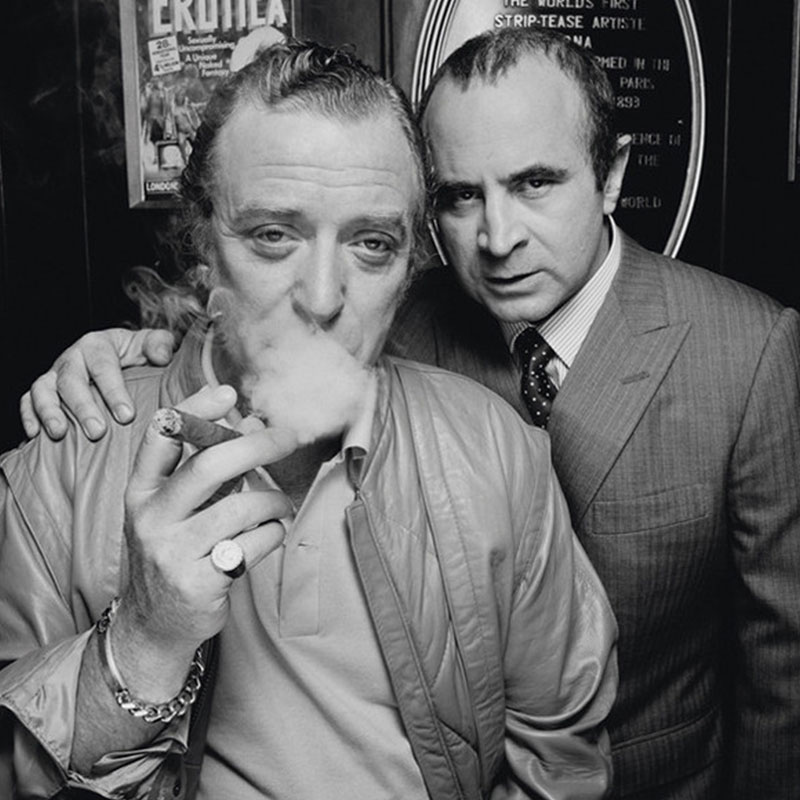 Terry ONeill Michael Caine Bob Hoskins London 1985 I featured