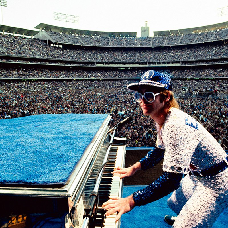 Terry ONeill Elton John Dodger Stadium Los Angeles 1975 featured
