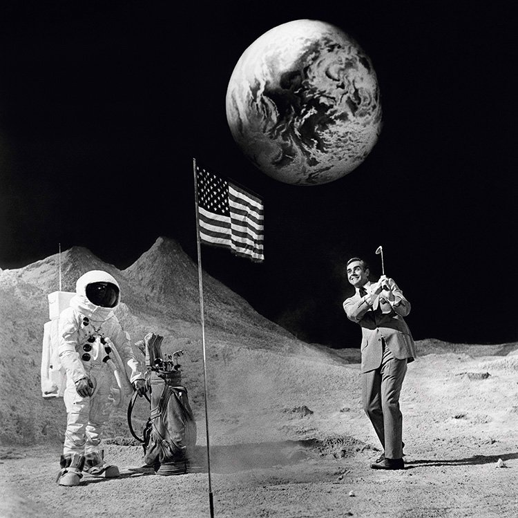 Terry ONeill Sean Connery Bond on the Moon 1971