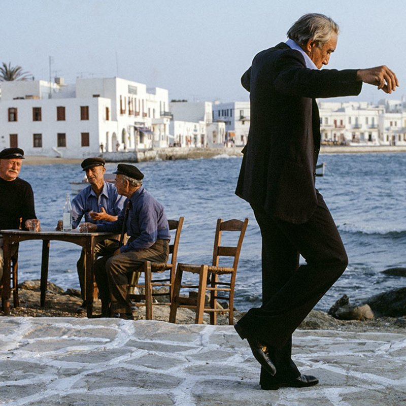 Eva Sereny Anthony Quinn on set The Greek Tycoon 1978 featured