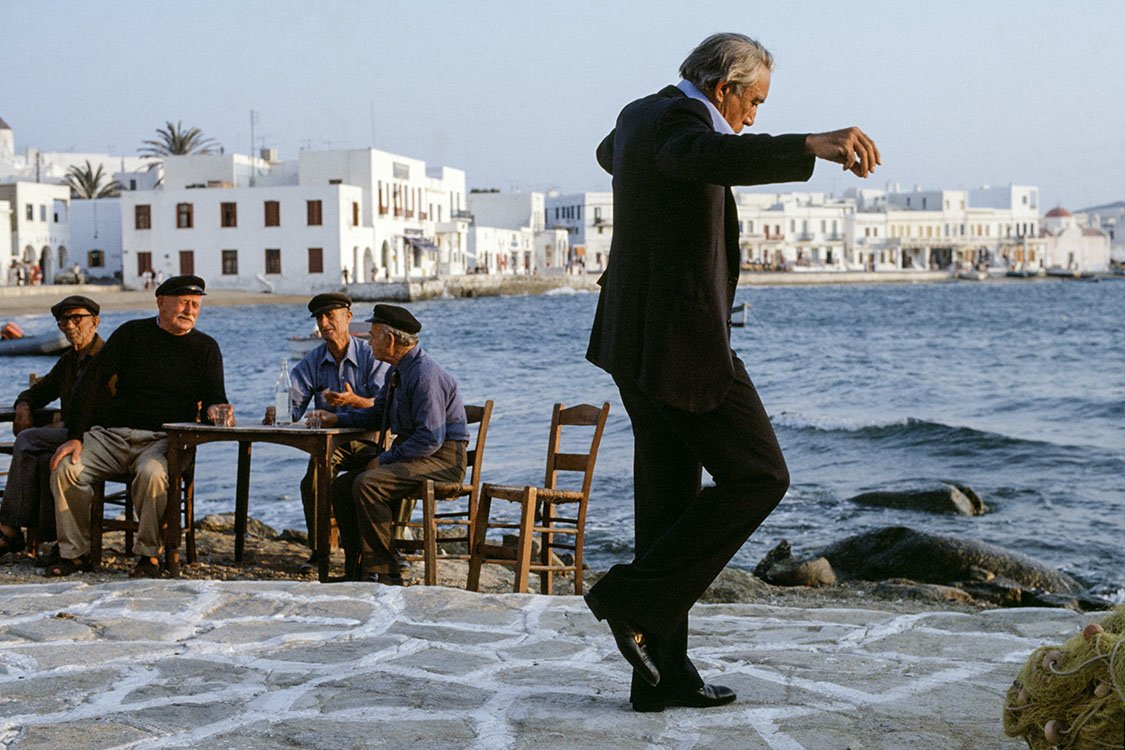 Eva Sereny Anthony Quinn on set The Greek Tycoon 1978