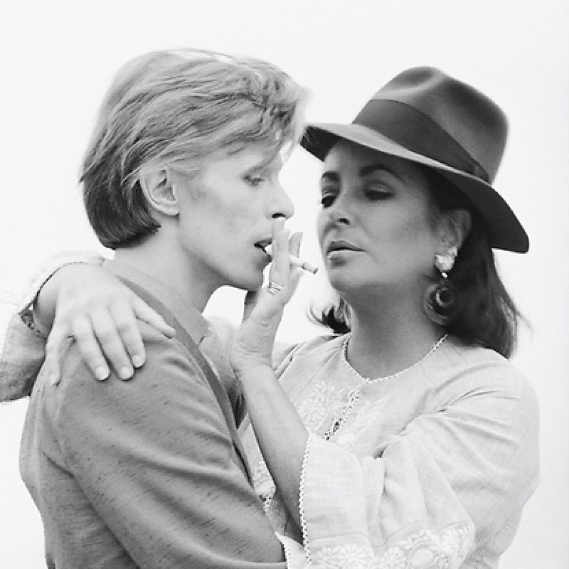 Terry ONeill David Bowie and Elizabeth Taylor Beverly Hills 1975 featured