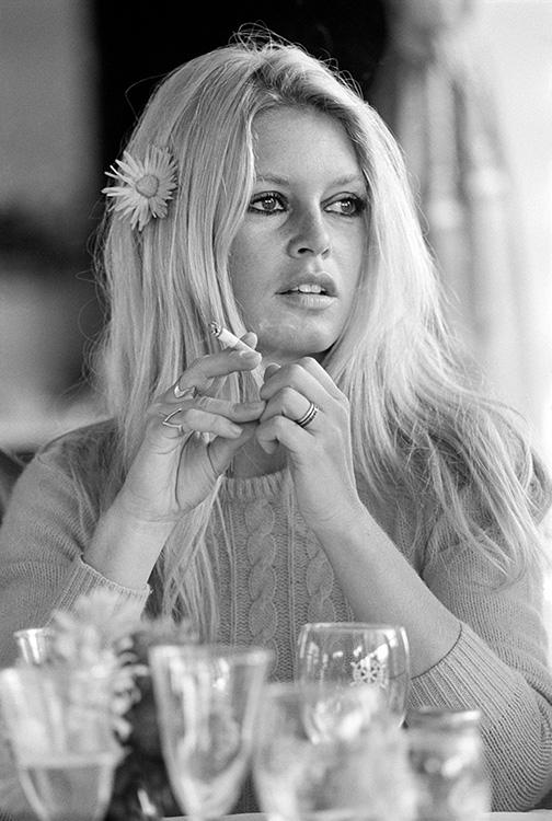 Terry ONeill Brigitte Bardot on the Set of Shalako Deauville 1968