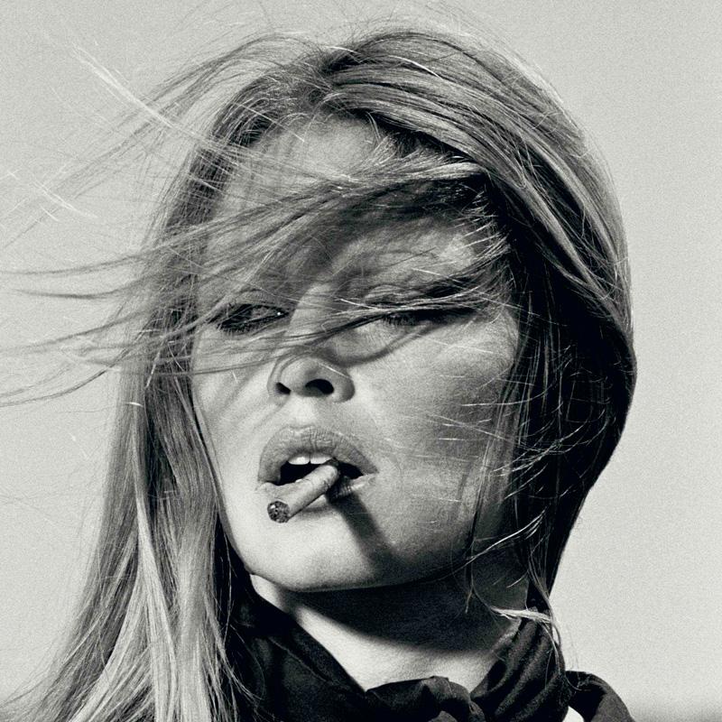 Terry ONeill Brigitte Bardot with cigar Spain 1971