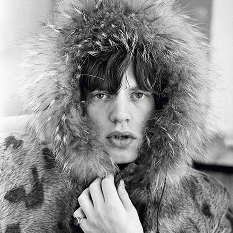 Terry ONeill Mick Jagger in a Fur Parka London 1964 featured