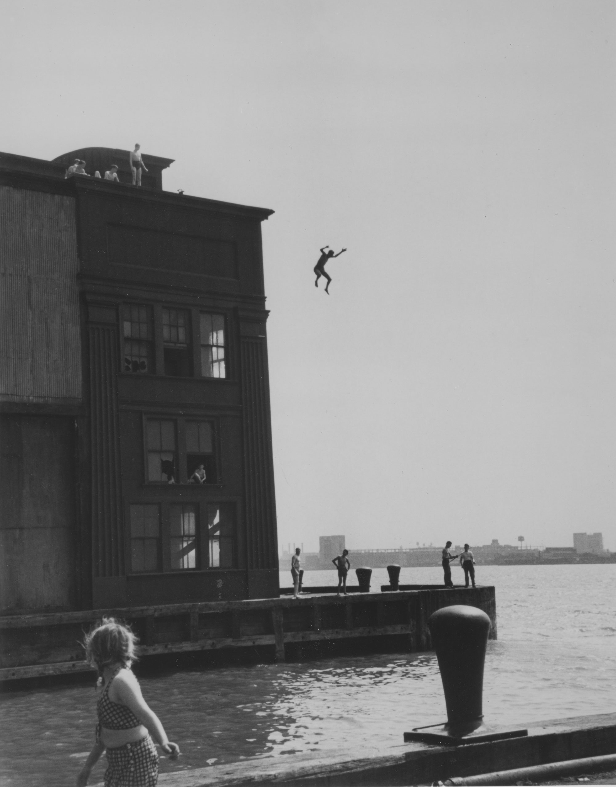 Ruth Orkin Boy Jumping into the Hudson River New York City 1948