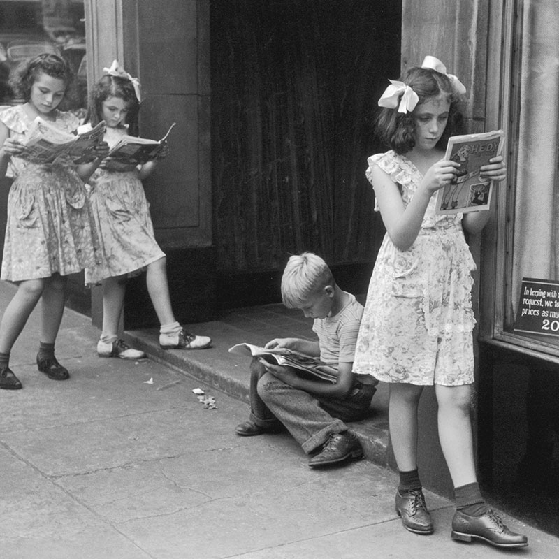 Ruth Orkin Comic Book Readers New York City 1947 featured
