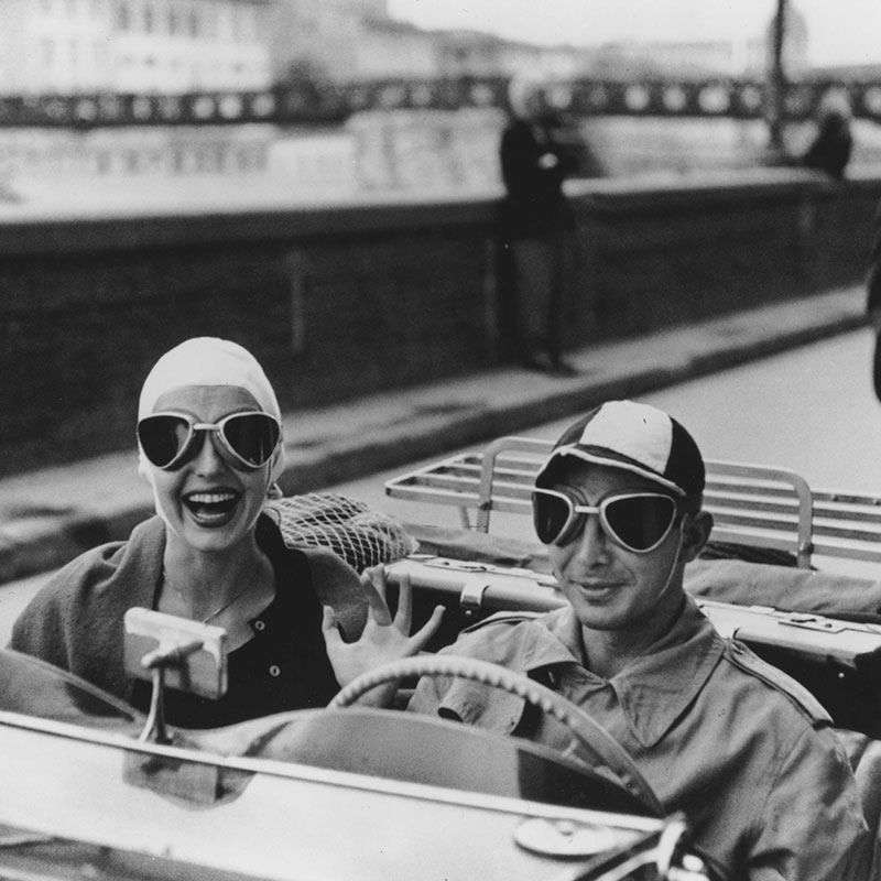 Ruth Orkin Couple in MG Florence Italy 1951 featured