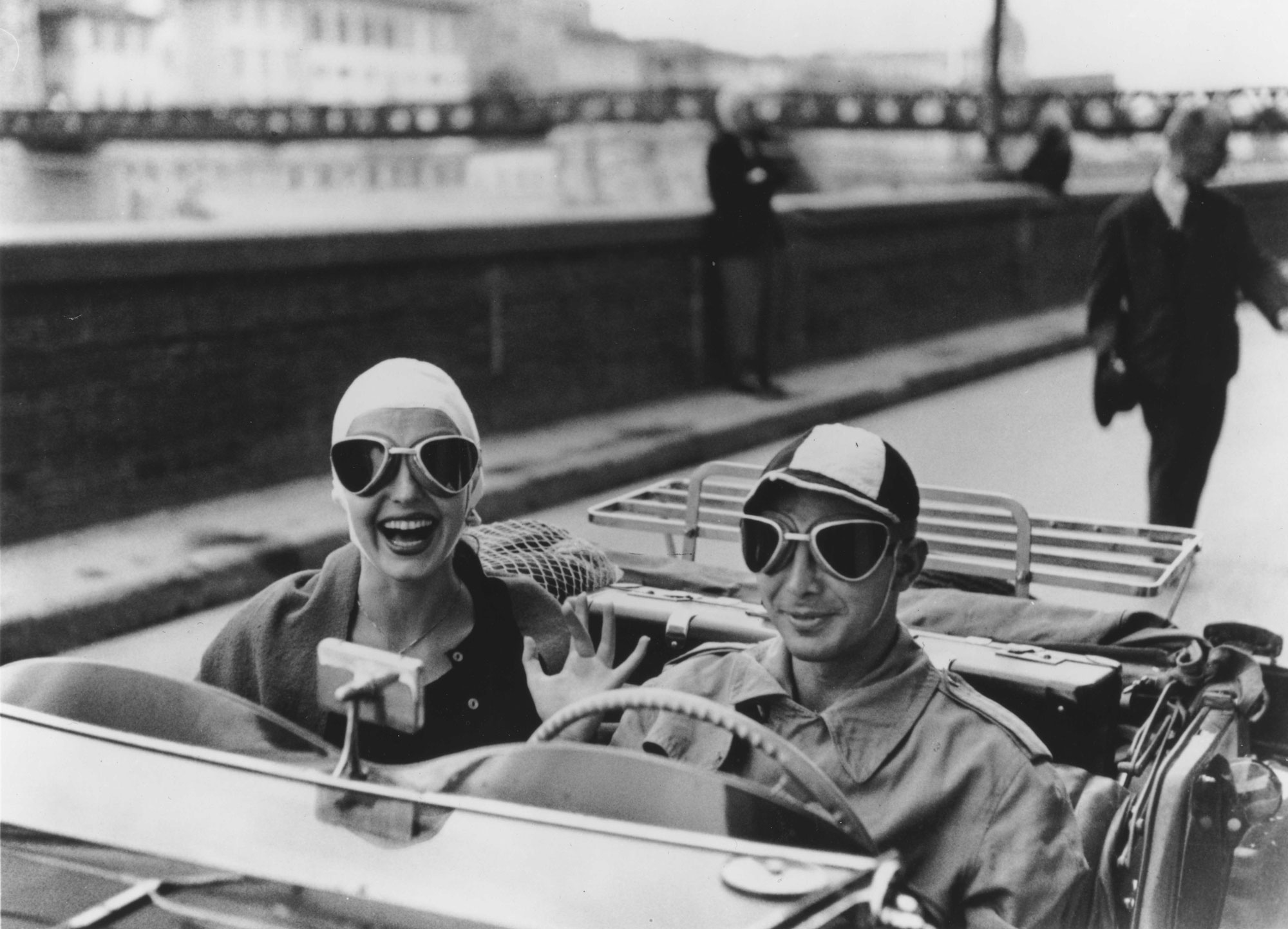 Ruth Orkin Couple in MG Florence Italy 1951