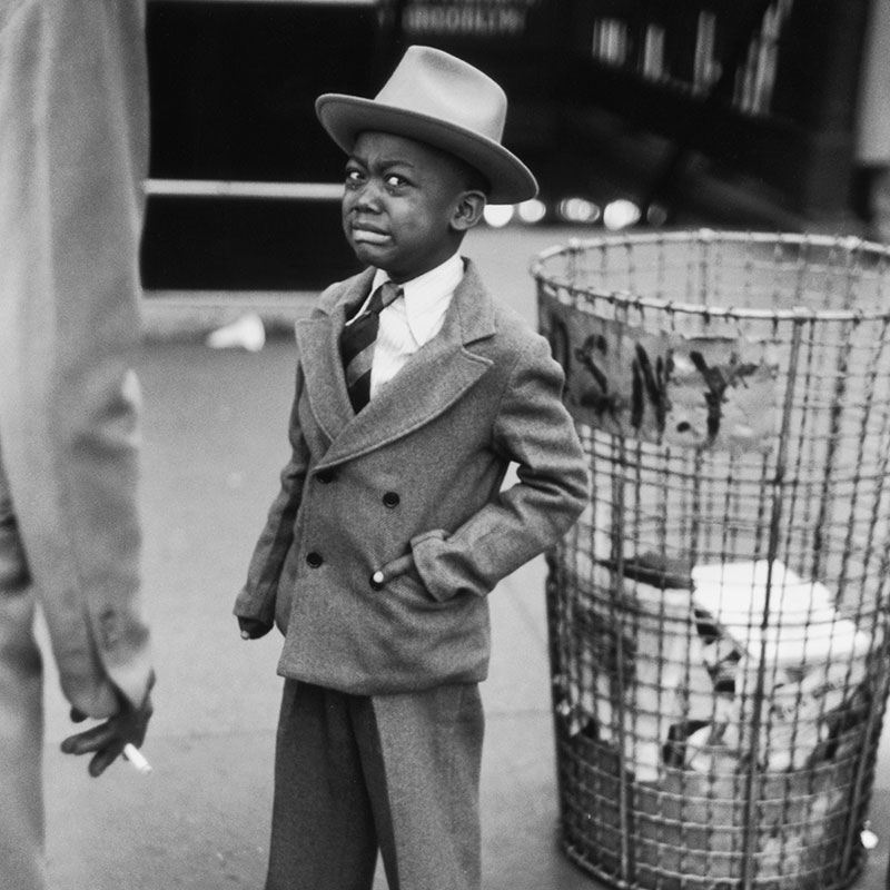 Ruth Orkin Tired Little Boy Crying Outside Circus New York City 1948 featured