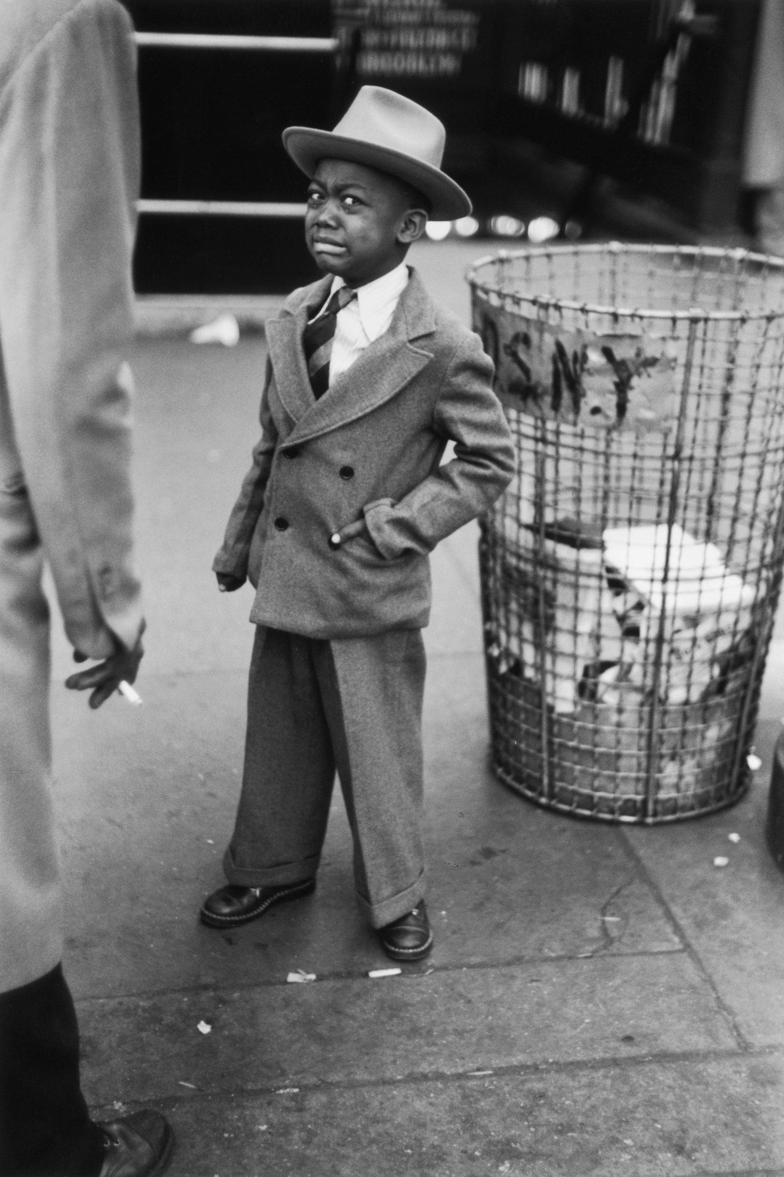Ruth Orkin Tired Little Boy Crying Outside Circus New York City 1948